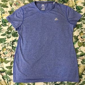 Adidas XL climalite short sleeve shirt blue